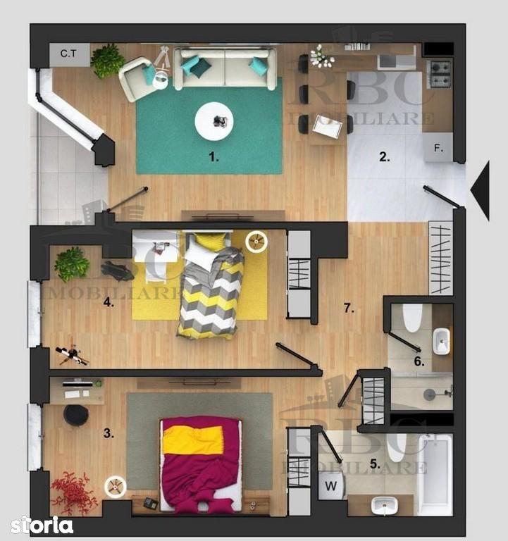 Apartament de vanzare, Cluj-Napoca, Cluj, Buna Ziua - Foto 3