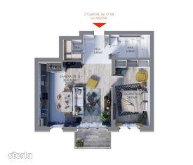 Maurer Residence Constanta- Apartament 2 camere MR55
