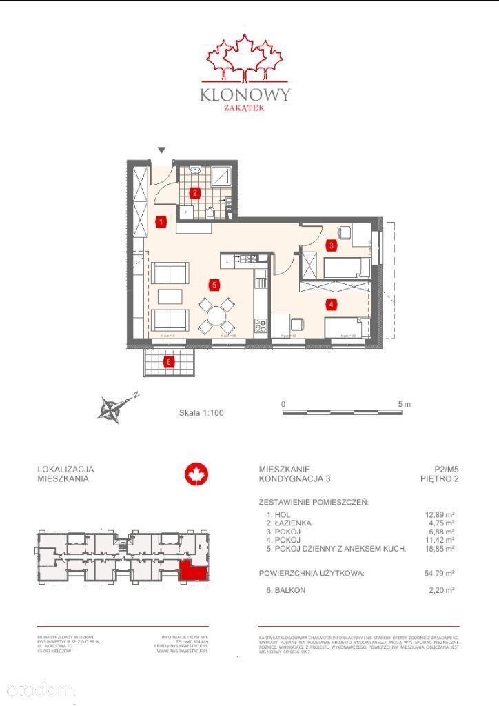 Mieszkanie na sprzedaż, Kamieniec Wrocławski, wrocławski, dolnośląskie - Foto 2