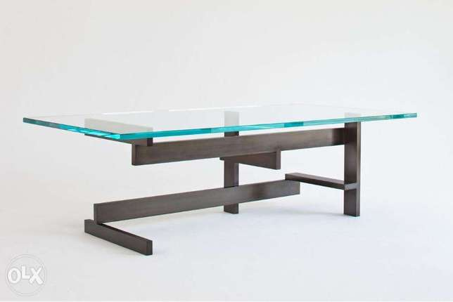 [ Contemporary modern industrial Metal - Coffee Table ]