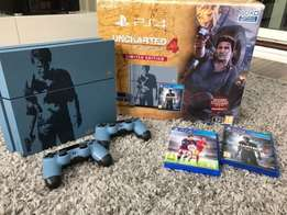 Uncharted 4 sony ps4 : A Thief's End Special Edition 1TB Grey