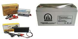 500W Inverter System +100Ah Battery & Charger for Home or Office Use