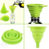 Mini Foldable / Collapsible Funnel For Oil & Liquid - Green