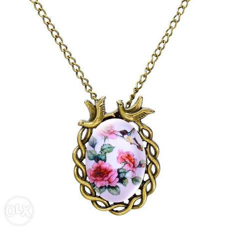 Women Vintage Floral Bird Statement Necklace Nairobi CBD - image 2