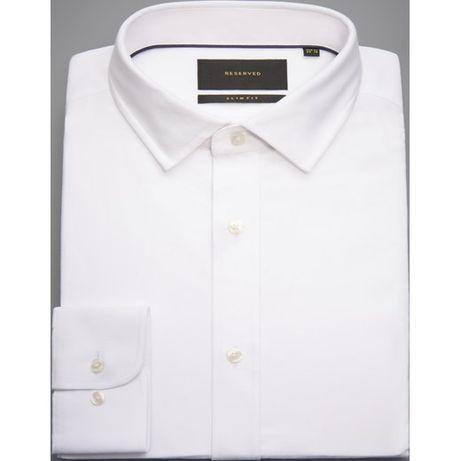 4ae1fa1c Koszula męska Reserved z długim rękawem biała elegancka gładka ...