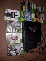 XBox360 250Gb with 1Controller and 8 Games and all Cables.