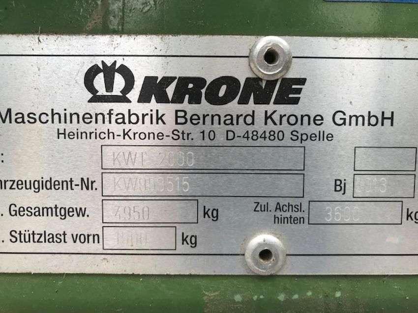 Krone kwt 2000 - 2013 - image 6