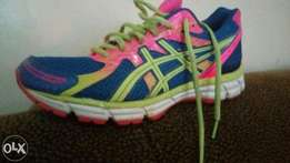 Gym, running, jogging shoes. Time to get fit and prolong your life.