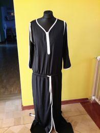 Nowa sukienka maxi sportowa czarna i białe obszycie firmowa