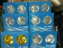 Pure white &Yellow Sport lights.