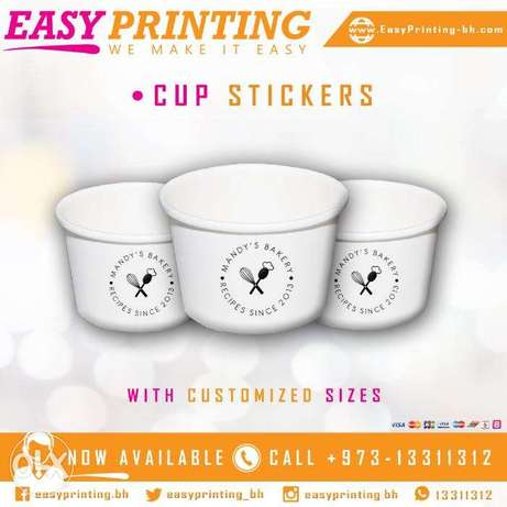 Clear Stickers Printing For Cups - With Free Delivery Service!