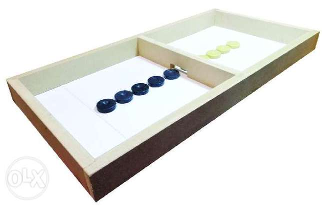 Brand New Wooden Pucket Hockey Board Game
