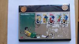 African Cup of Nations 1996 Football FDC with 50c Cricket/Soccer coins