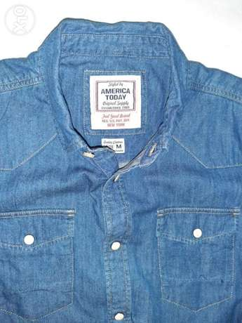 America today jeans shirt medium size from England.