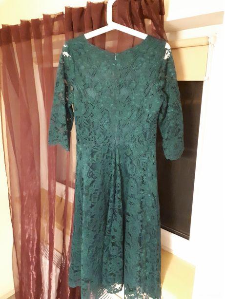 ce32ebad4f Nowa koronkowa zielona sukienka midi de facto r. 38 Sokółka - image 2