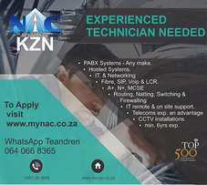Experienced Technician Need