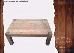 Exposed leg coffee table