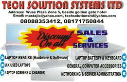 For your laptops repairs and sales call Tech solutions Systems Limited