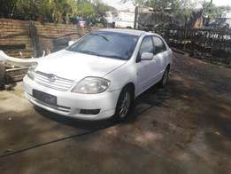 White Toyota Corolla for sale at All Merc Spares