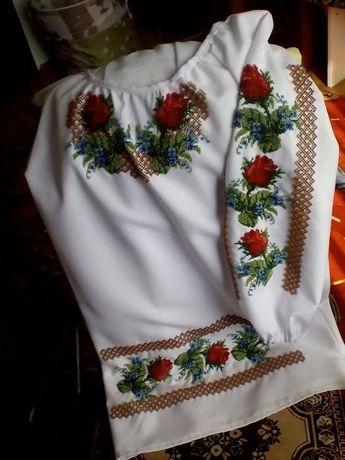 Сорочка вишита бісером (рубашка вышиванка) Туніка плаття Івано-Франківськ -  зображення 1 1eeed880b134b