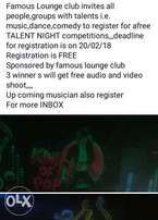 Talent,upcoming musician,dancers,commedians