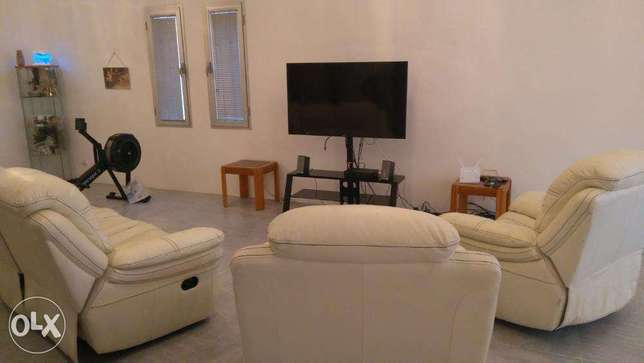 Spacious furnished 3 bedroom in egaila with maids room.