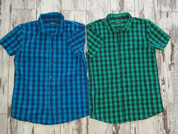f8e98281b Reserved 2 młodzieżowe koszule w kratkę dla chłopca, r. 158 Płock - image 1