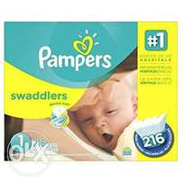 Pampers swaddler size 1 (216count)