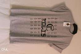 Grey unisex short-sleeved T-shirts