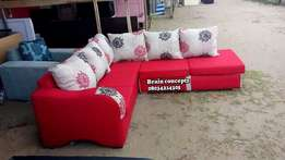 Red and wine settee