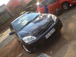 2007 toyota Runx 1.80RX black color with 91000km leather R95000