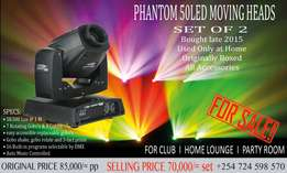 Set Moving Heads Disco lights