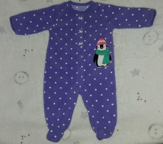 Флисовый человечек поддева пижама Carters 0-3 месяца  99 грн ... fd9ea395ce936