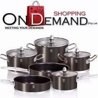 New Berlinger Haus 10-Piece Matellic Set AND FREE Thermal Lunch Box