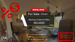 ALLURING Chalet In Faqra Fully DECORETED with Viewشالي في فقرا ٢٥٠ م٢