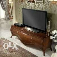 Lacquered Solid Mahogany Contemporary Tv Stands