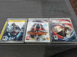 3 PS 3 Games. Mint condition.