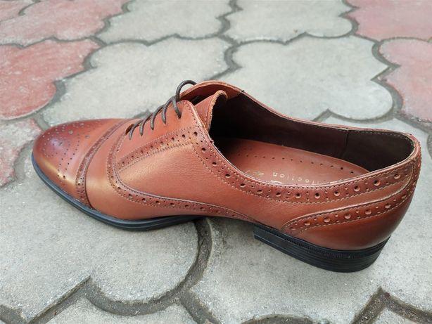 fcc4ef760b477e Чоловічі класичні туфлі броги з натуральної шкіри Ікос 100% Одеса -  зображення