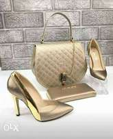 Set of bags and shoes available in different designs and sizes