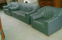 3 piece genuine leather lounge suite