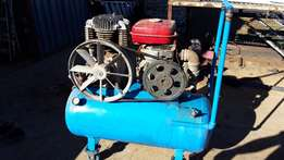 200L compressor with petrol engine