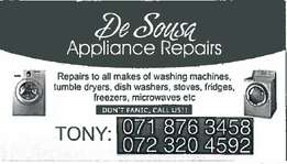 De Sousa - Appliance Repairs
