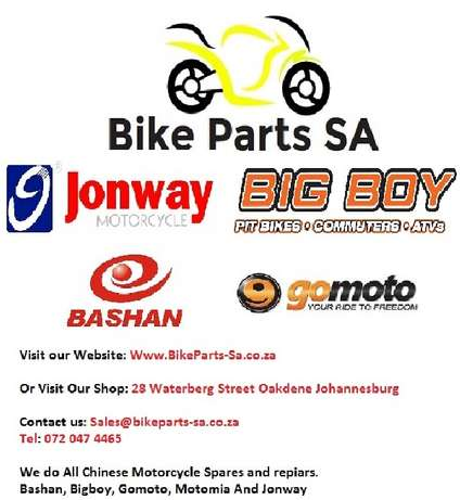 Scooter and Chinese bike spares, BIgboy Jonway Conti Bashan and Motomi Johannesburg - image 1