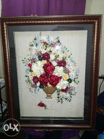 Hand made wall pictures - Ribbon Embroidery Brazilian