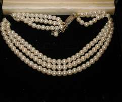 Three beautiful set of pearls. Unique on it own way.