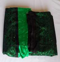 Green - Black Padded Sample Lace - 5 Yards