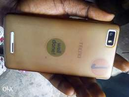 White Tecno W3 (Very Neat) + Pouch at 17,500, For Sale!