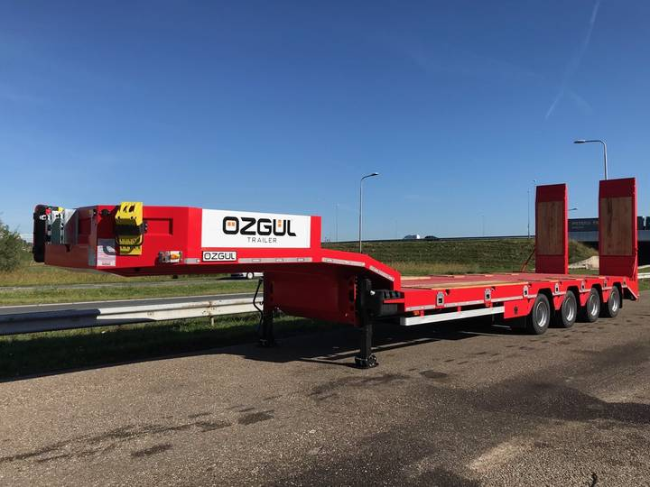 Ozgul LW4 70T 4 axle lowbed semi trailer, hydraulic ramps (300) - 2018