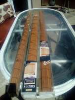 Match stick roll-up blinds.color,chocolate,R100 each