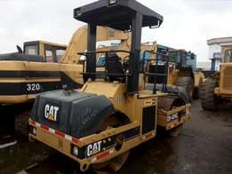 Foreign used caterpillar CB-434C double drum roller
